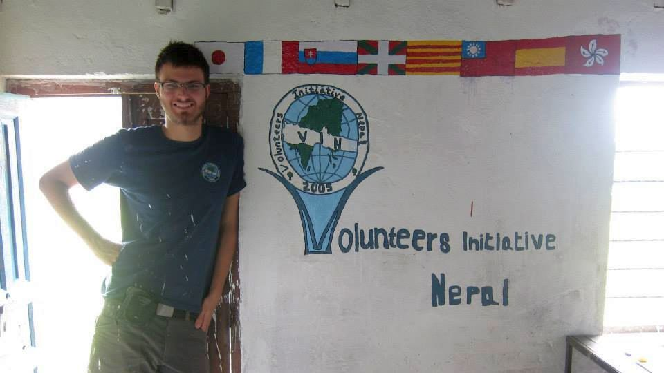 work camp, Nepal, skola, Peter Molnar