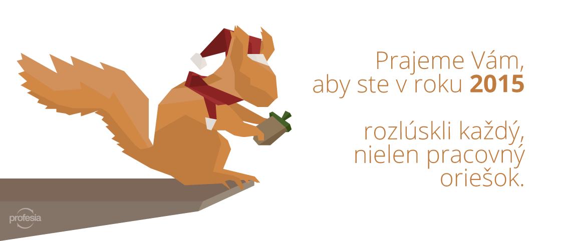 Profesia PF 2015, veverička, oriešok