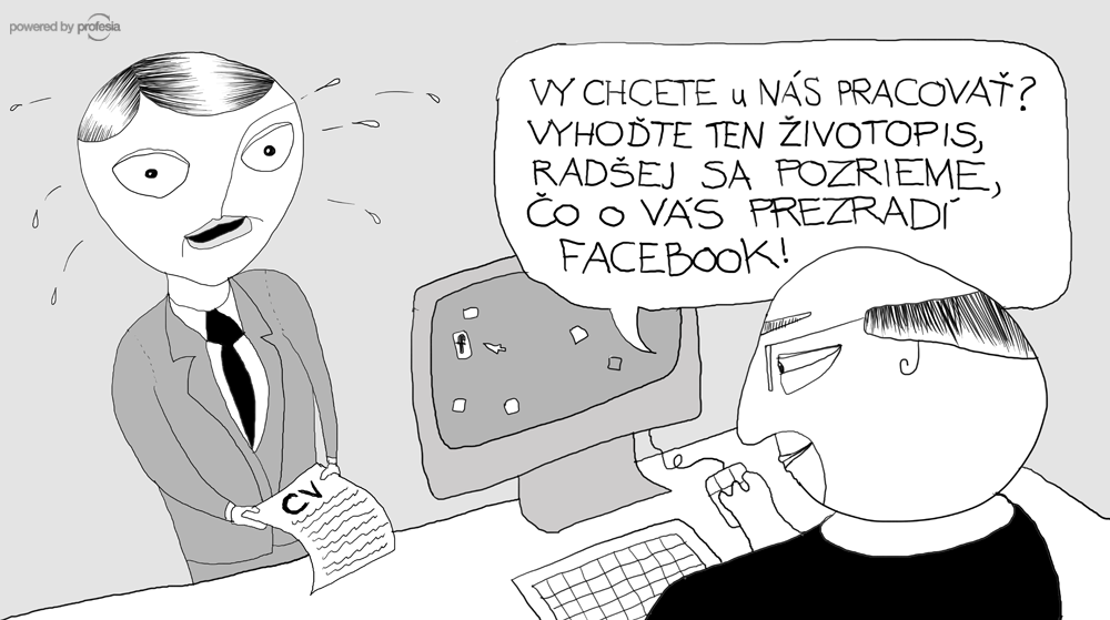 práca, životopis, CV, facebook