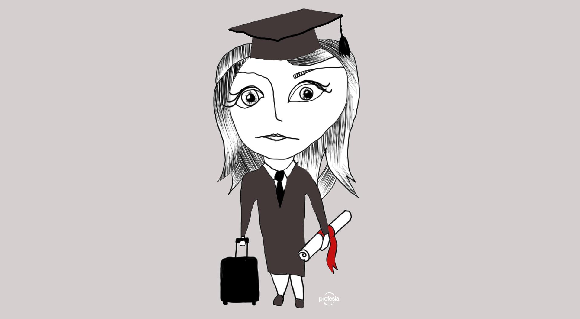 absolventi, Profesia, odchod, brain drain