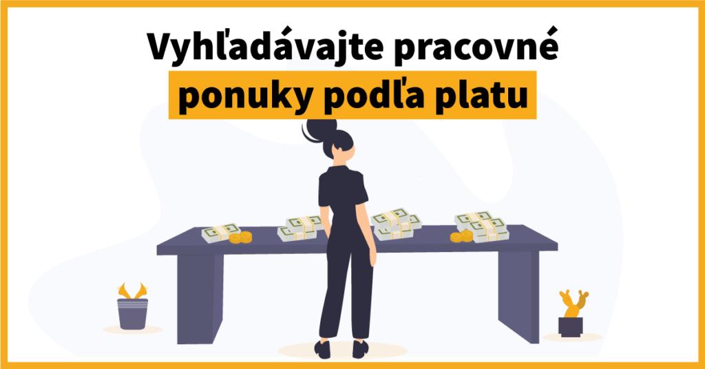 Novinka: Vyhľadávajte pracovné ponuky podľa platu