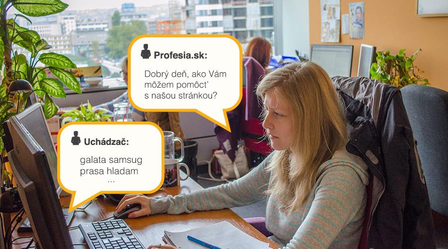 Profesia, support, chat, meme, konverzacia